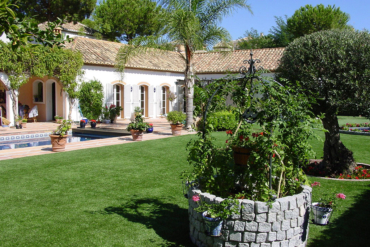 First artificial lawn garden at the Costa del Sol